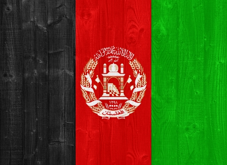 afghan flag: gorgeous Afghanistan flag painted on a wood plank texture