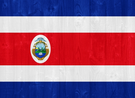 costa rica flag: gorgeous Costa Rica flag painted on a wood plank texture