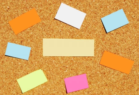 colorful reminder notes on a corkboard Stock Photo - 22692014