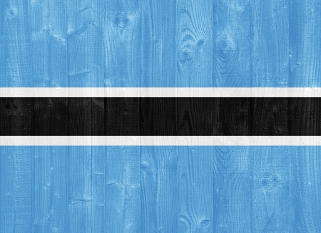 botswana: gorgeous Botswana flag painted on a wood plank texture Stock Photo