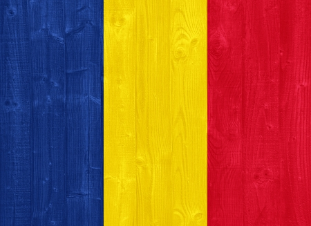 chadian: gorgeous Chad flag painted on a wood plank texture Stock Photo
