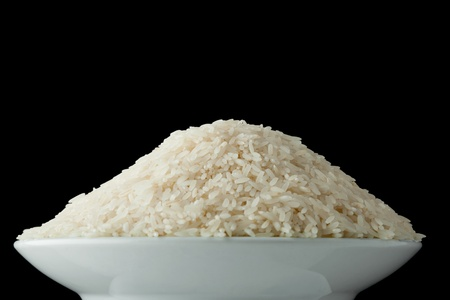Bowl with raw white rice Stock Photo - 12888051