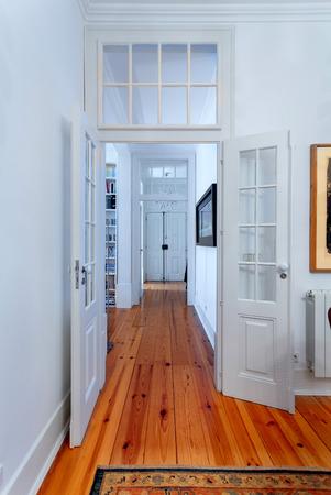 furnished: Elegant vintage house interiors hallway
