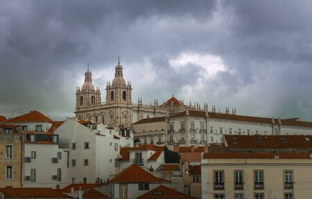 Panoramic view over Lisbon, Portugal 写真素材