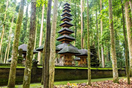 A temple in the Monkey forest, Bali, Indonesia