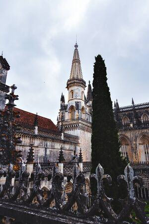 Monastery of Batalha, Manueline style, Batalha, Portugal Banco de Imagens