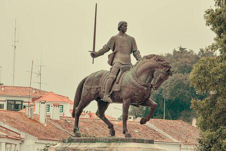 Nuno Alvares Pereira statue, leader, Batalha, Portugal