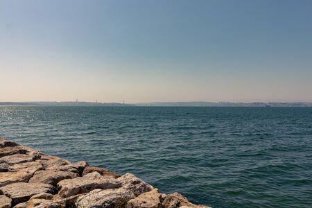 Tagus river, sunny day, Lisbon, Portugal