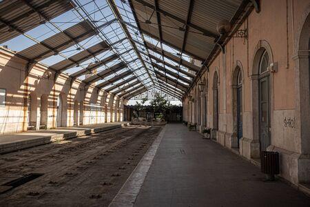 Old train station of Barreiro, Lisbon, Portugal