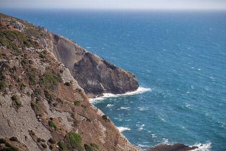 The panoramic view of Cape Espichel, Sesimbra, Portugal
