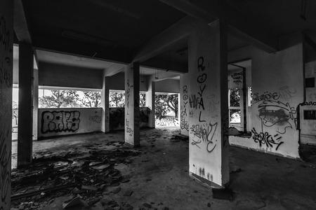 Abandoned hotel in Barcarena, near Lisbon, Portugal