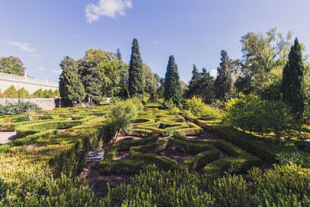 The labyrinthine garden of the National Palace of Queluz, Sintra, Portugal