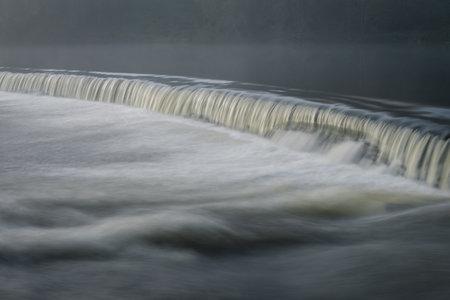Small waterfall in an old dam in Lugo Galicia Banco de Imagens