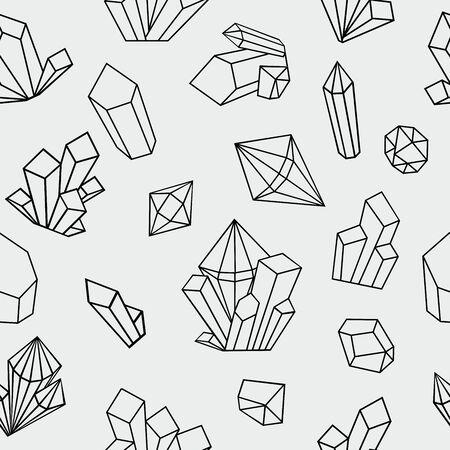 Illustration of geometric texture, diamond and crystal pattern