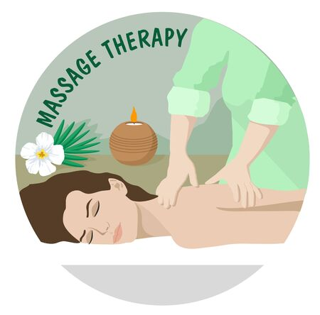 Massage Therapy. Spa Therapy. Professional massage services Vektoros illusztráció