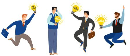 Business people have new ideas vector collection