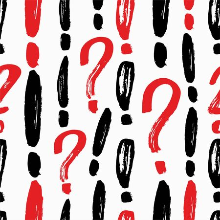 Question marks seamless pattern. Vector sketch question marks background Banque d'images - 137873912
