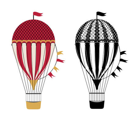 Air Balloon icon. air transport symbol, hot air balloon vector sign on white background, aerostat transportation icon in outline style for mobile concept and web design. Holiday decorative design