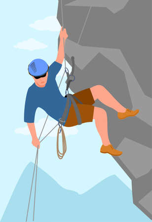 Mountain climber Active and extreme lifestyle Travel or adventure