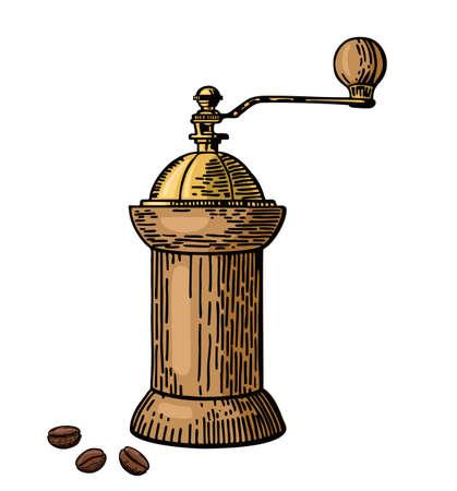 Coffee mill Coffee grinder hand drawn sketch style