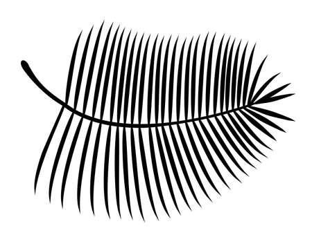 Palm leaf silhouette. Vector illustration Dotted vibrant bold element of natural halftones palm leaf 矢量图像