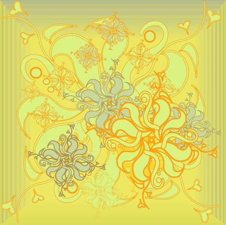 Golden Rose, flower, floral ornament modern, illustration Çizim