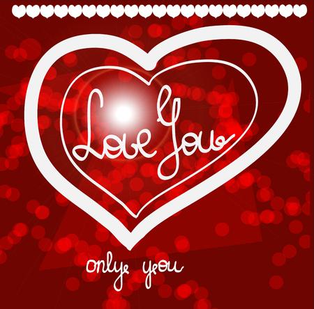 I love you shirt design or tattoo, wedding invitations, cards, Valentine s day Illustration