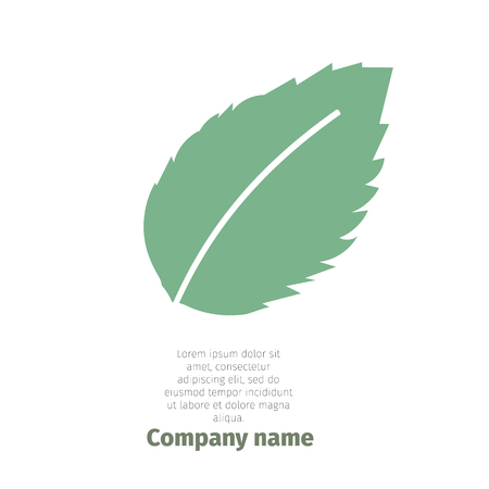 Minze. Logo für Unternehmen. Isolierte Minze Blätter auf weißem Hintergrund