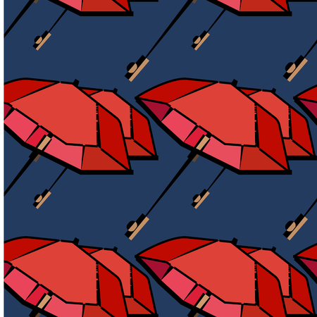 cartoon umbrella: Vector umbrellas seamless pattern. Cute cartoon background. Elegant