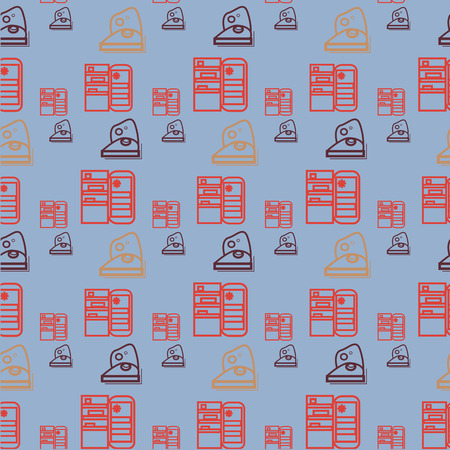 Appliances icons handmade style, for home, vector, trendy infographic
