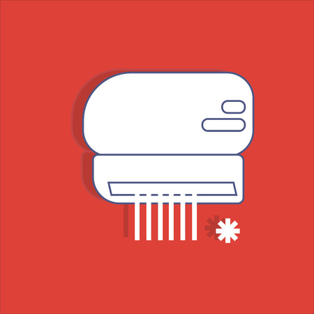 swill: Air conditioner icon, vector, climate control, for design flat