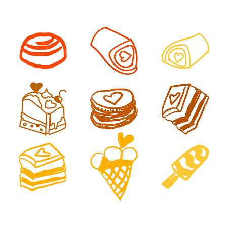 candies line icons set , vector illustration, sweetest day, PRINT