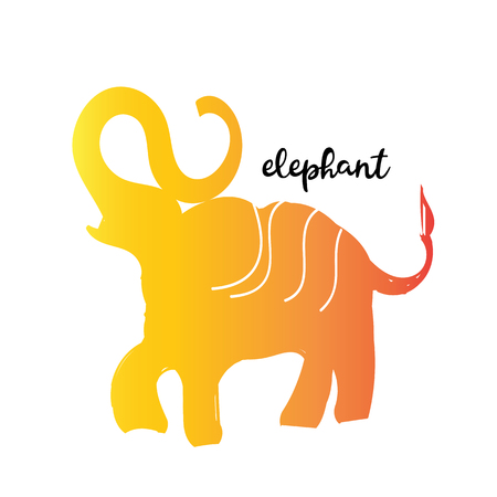 Simple modern elephant logo, elegant and stylish
