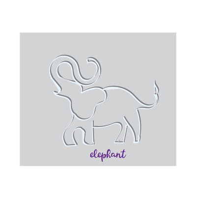 Simple modern elephant logo, elegant and stylish, paper Illustration