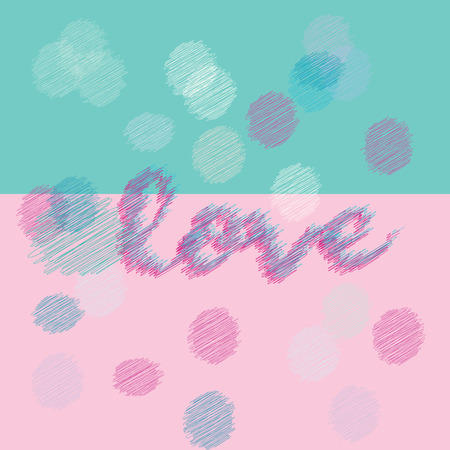 Love for printing, textile, art design. Decorative vector backdrop. Pastel Color