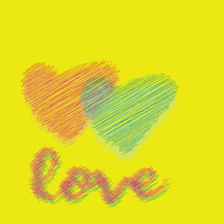 Love for printing, textile, art design. Decorative vector backdrop. Pastel Color