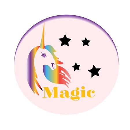 Rainbow Unicorn, Stars, Colorful, Fantasy