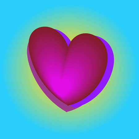 Pink heart balloons in the blue sky, bright colors, Valentine day, birthday banner, anniversary. card