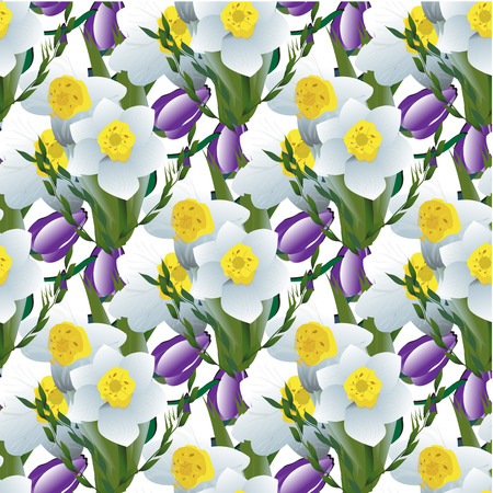 Decorative flower narcissus for bride bouquets, wedding cards, banners, and posters, Also suitable for textile prints.Daffodil flower, tulip