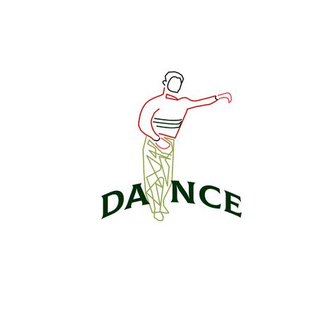 Young man dancing rumba, merengue or latin music