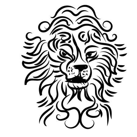 leo symbol is good for tattoo or logo, art modern illustration Logo