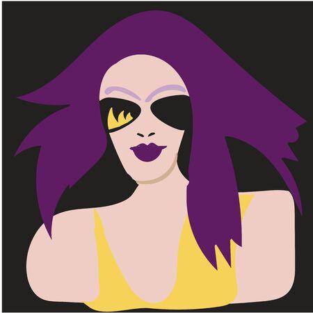 The fashion girl in style pop art. Vector illustration Ilustrace