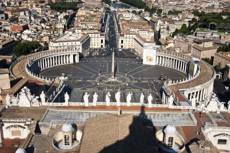 Aerial view of Saint Peter s Square in Rome, Italy   Stock Photo - 17241884