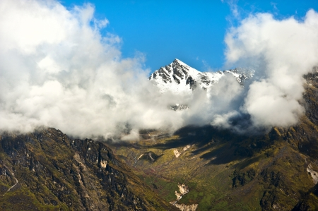 Nepal Peak on Langtang trek Stock Photo - 17348798