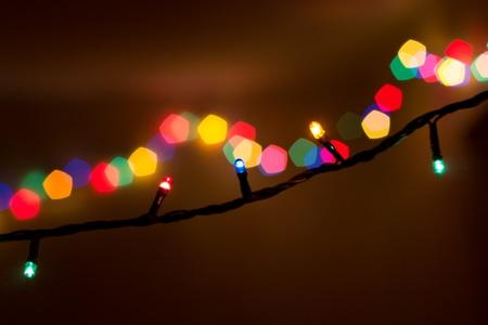 festoon: electric festoon on dark background