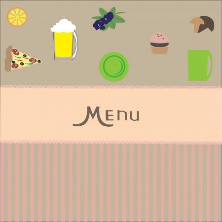 restaurant menu design   vector  illustration