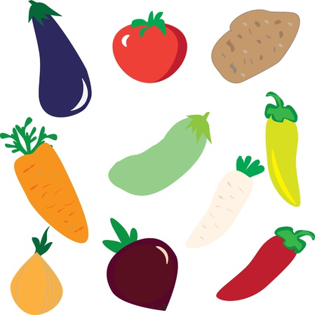 vegetables  background, bright vector illustration