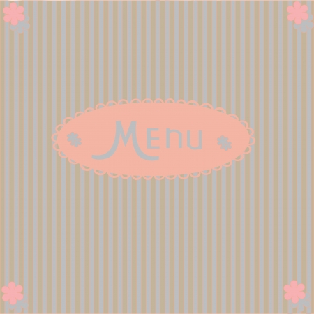 restaurant menu design  cute illustration