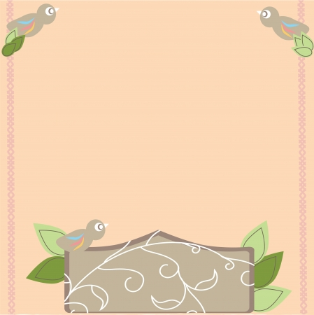scrapbook card for holiday, vector