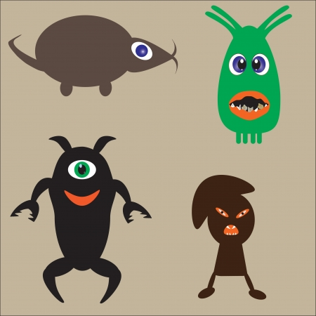 vector illustration of a cute monsters Vector